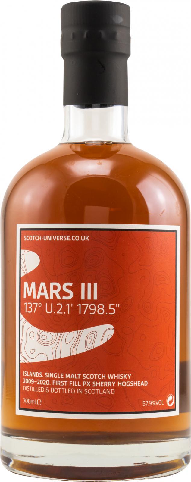 "Scotch Universe Mars III - 137° U.2.1' 1798.5"""