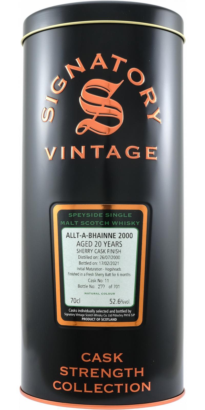 Allt-a-Bhainne 2000 SV