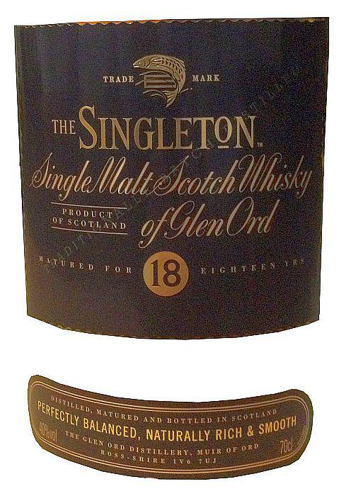 The Singleton of Glen Ord 18-year-old