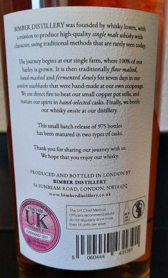Bimber Oloroso Cask - Batch No. 4