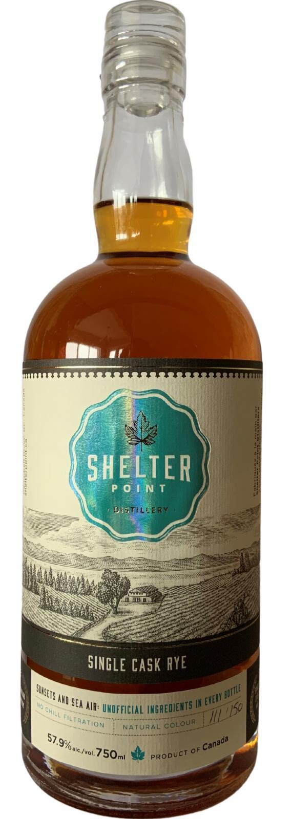 Shelter Point Single Cask Rye