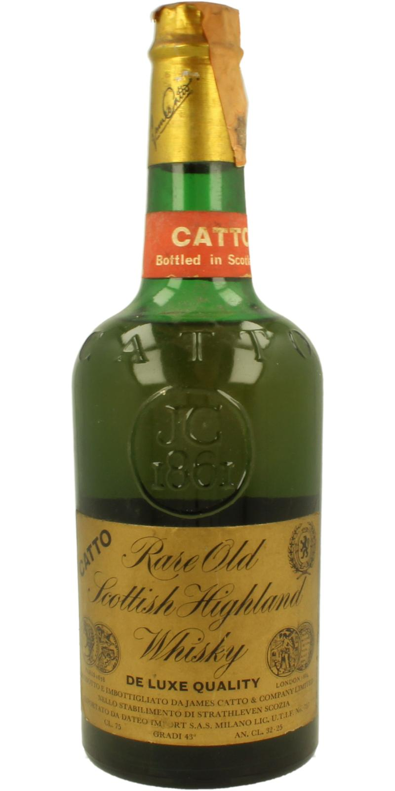 Catto Rare Old Scottish Highland Whisky