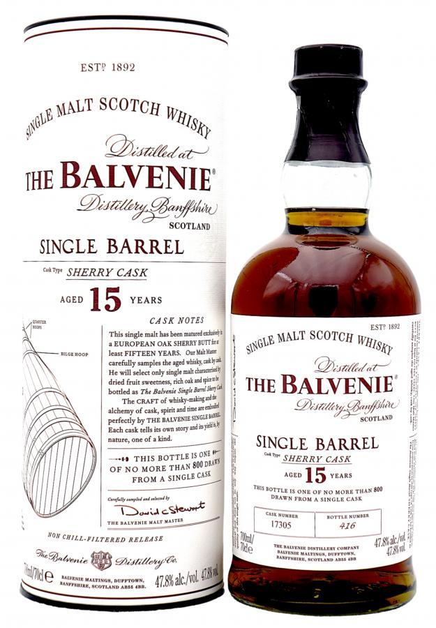 balvenie egyetlen sherry hordóban