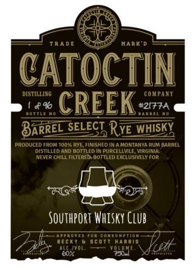 Catoctin Creek Barrel Select Rye