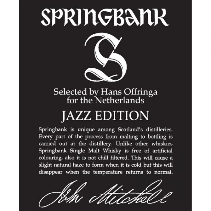 Springbank 14-year-old Jazz Edition