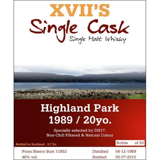 Highland Park 1989 DH17