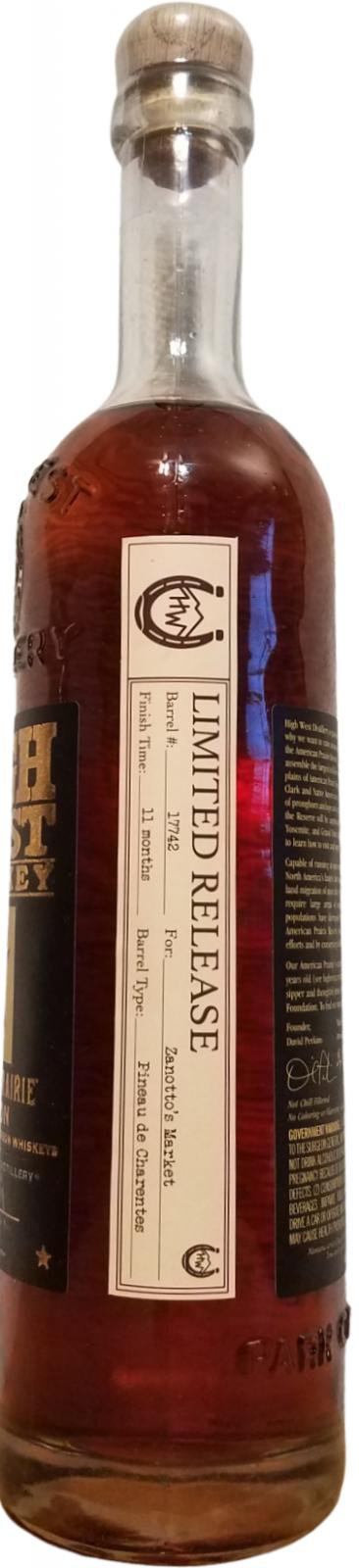 High West American Prarie Bourbon