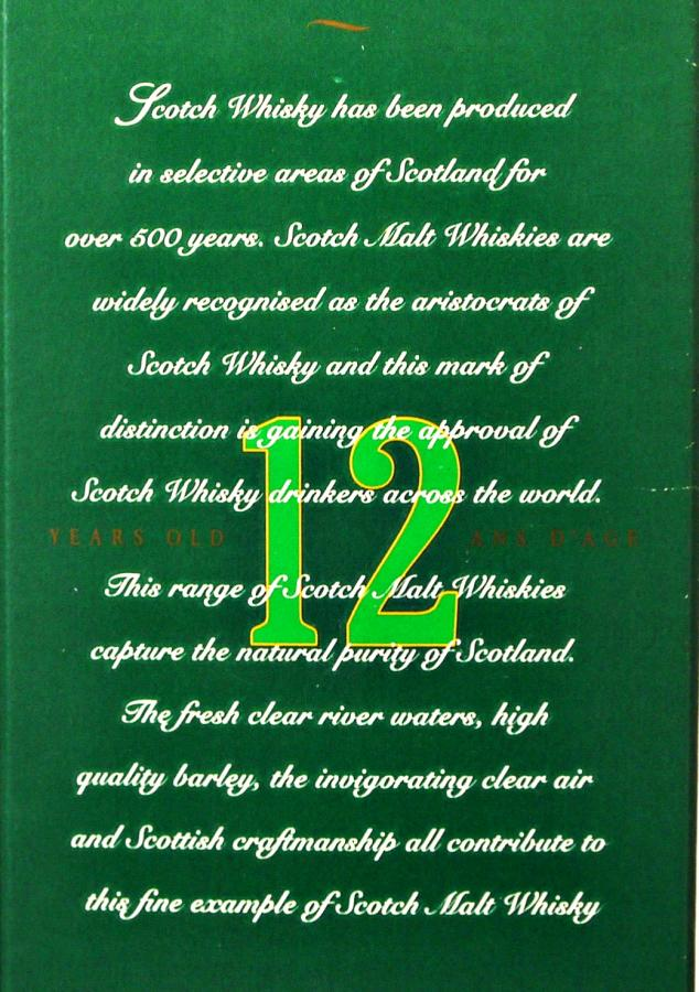 Highland Malt Whisky 12-year-old NA&C
