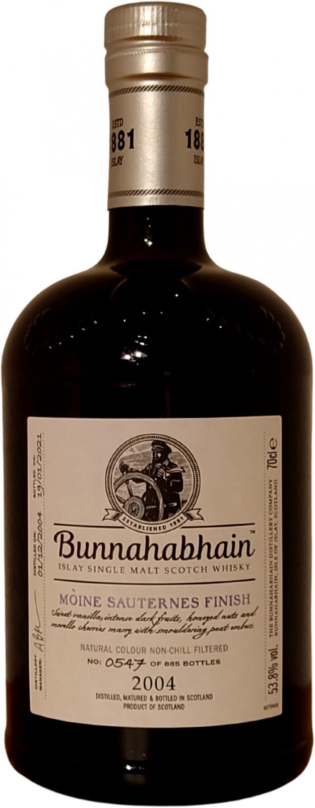 Bunnahabhain 2004 Mòine