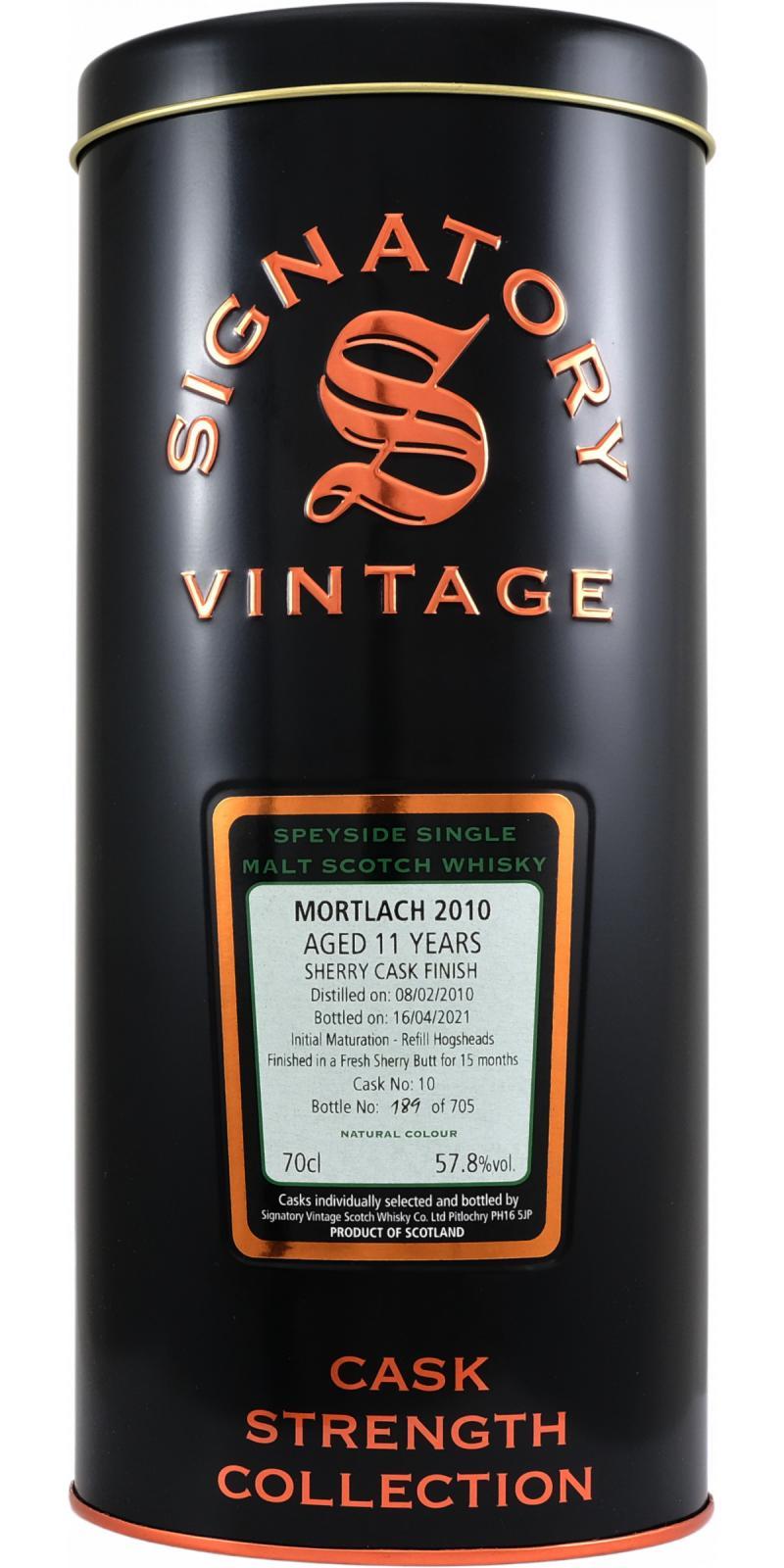 Mortlach 2010 SV