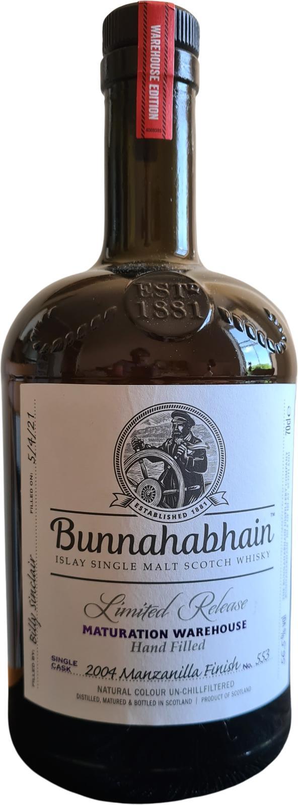 Bunnahabhain 2004