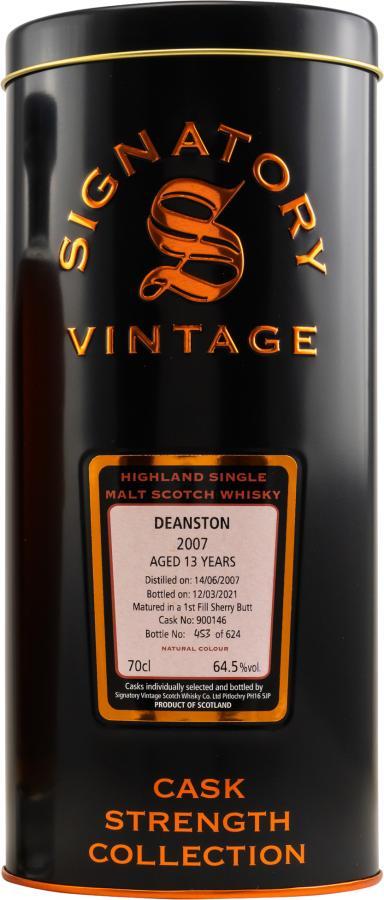Deanston 2007 SV