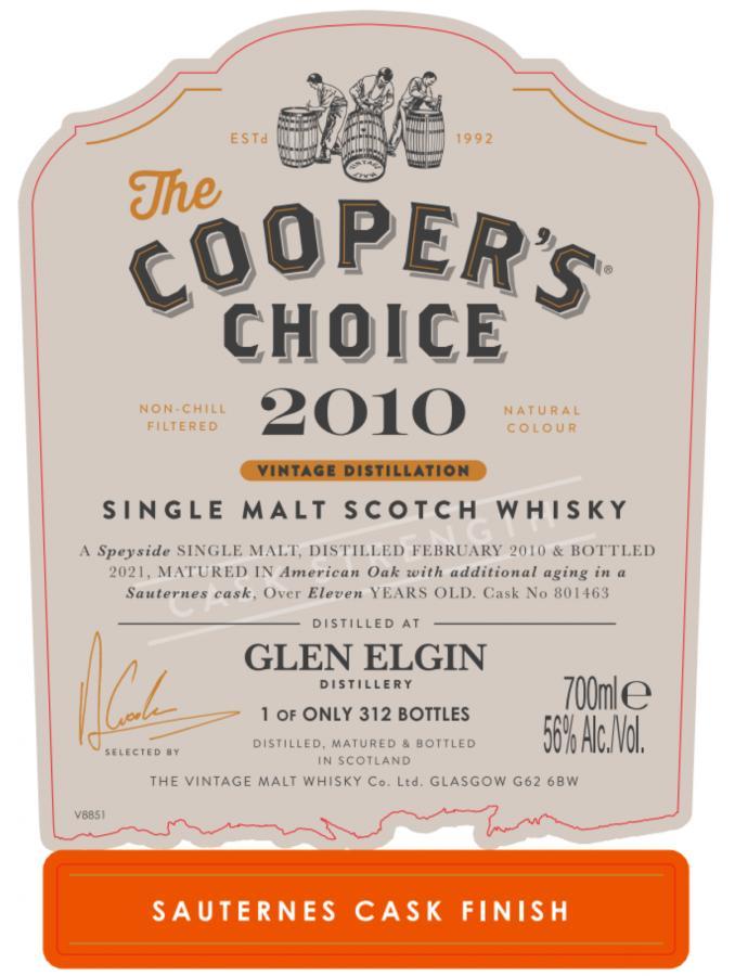 Glen Elgin 2010 VM
