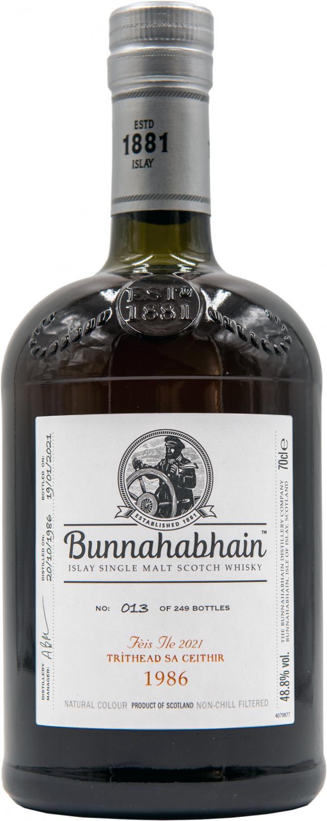 Bunnahabhain 1986 Tritheads'a Ceithir