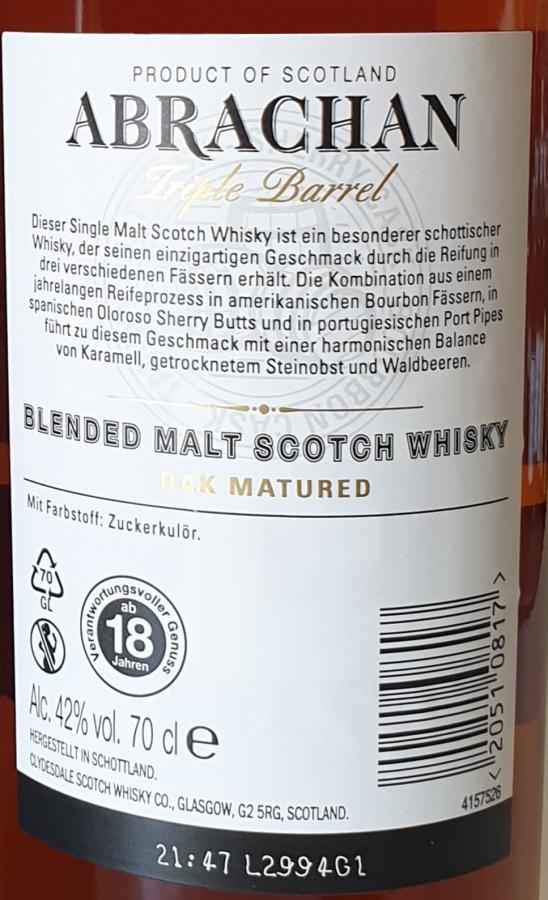 Abrachan Blended Malt Scotch Whisky Cd