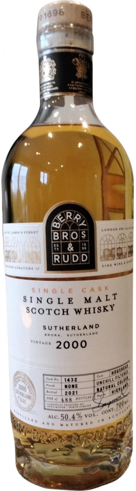 Distilled in Sutherland 2000 BR