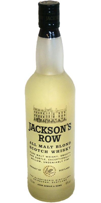Jackson's Row All Malt Blond Scotch Whisky