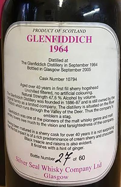 Glenfiddich 1964 SS
