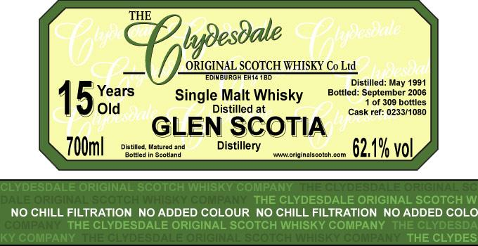 Glen Scotia 1991 TCO
