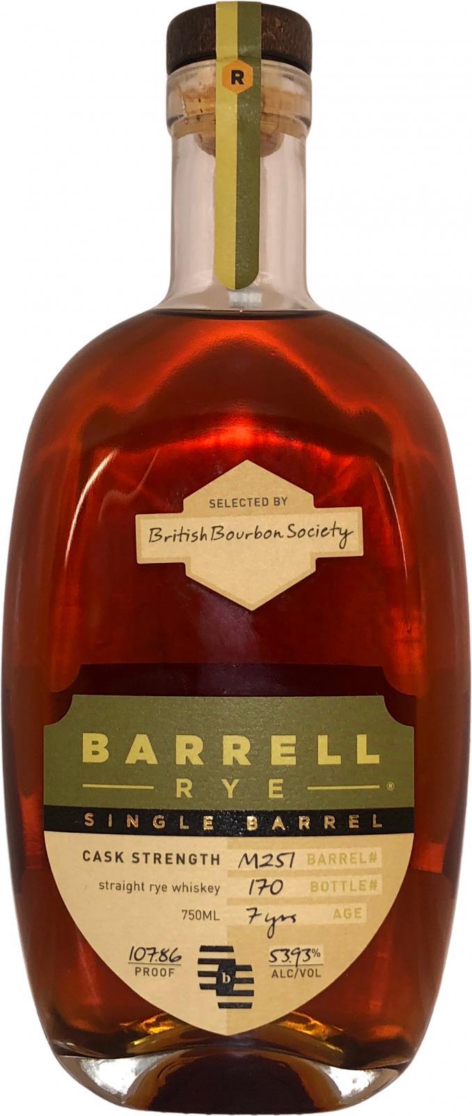 Barrell Rye 07-year-old