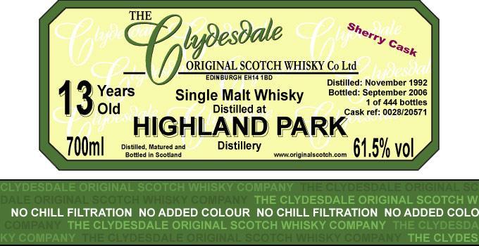 Highland Park 1992 TCO