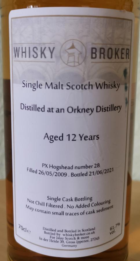 An Orkney Distillery 2009 WhB