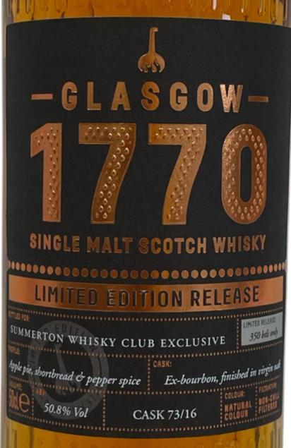 1770 2016 - Glasgow Single Malt