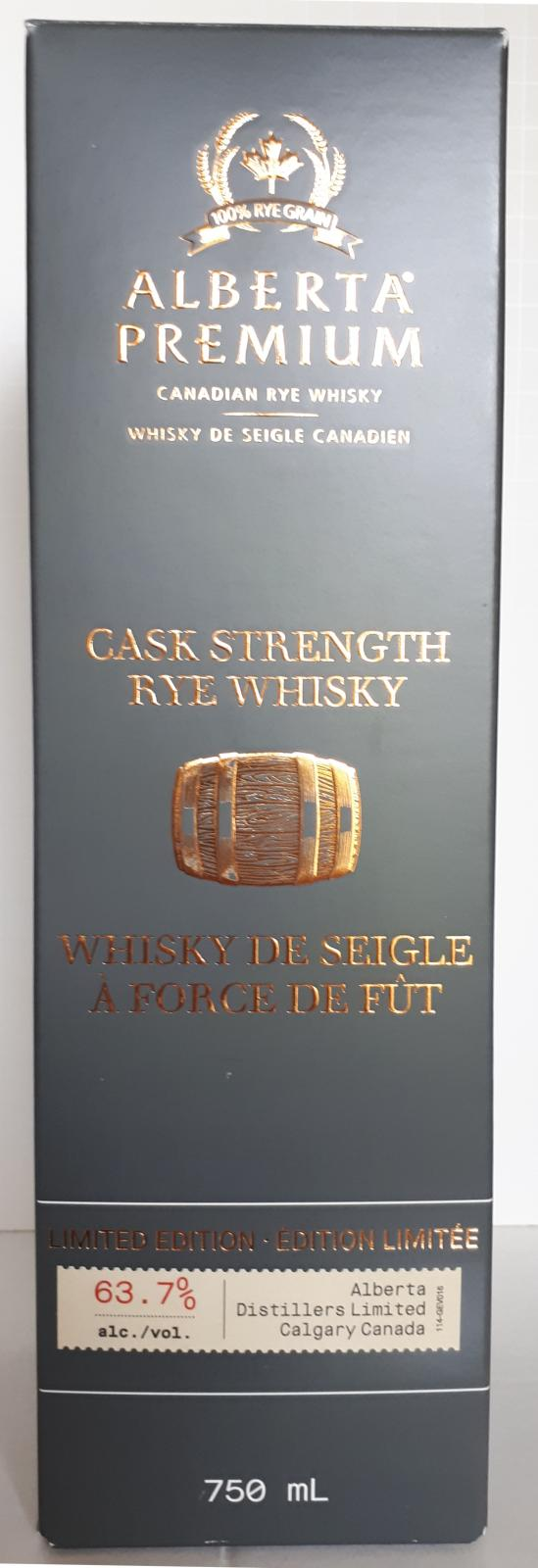 Alberta Premium Cask Strength Rye Whisky