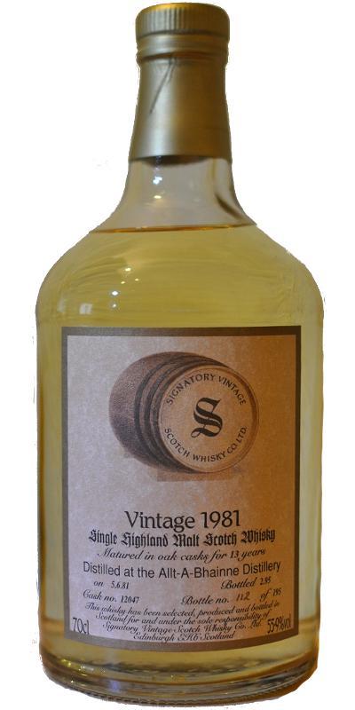 Allt-a-Bhainne 1981 SV