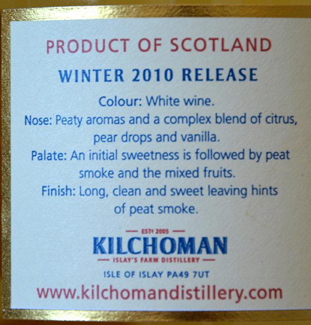 Kilchoman 2010 Winter Release