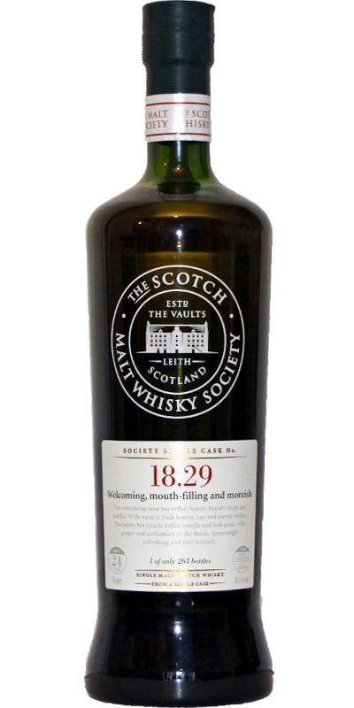Inchgower 1985 SMWS 18.29