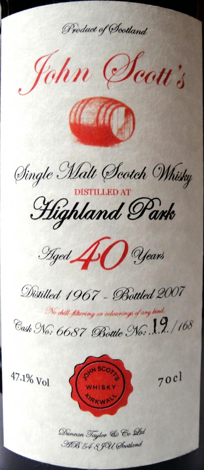 Highland Park 1967 DT
