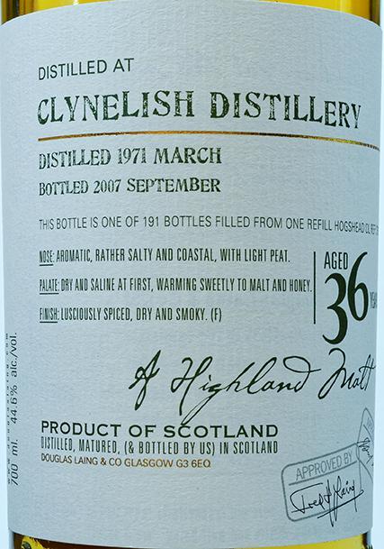 Clynelish 1971 DL