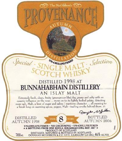 Bunnahabhain 1998 McG