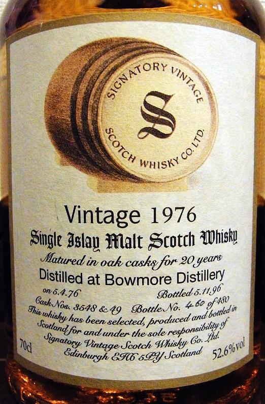 Bowmore 1976 SV