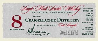 Craigellachie 2002 DR