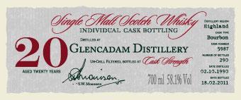 Glencadam 1990 DR