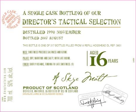 Talisker 1990 Tactical DL