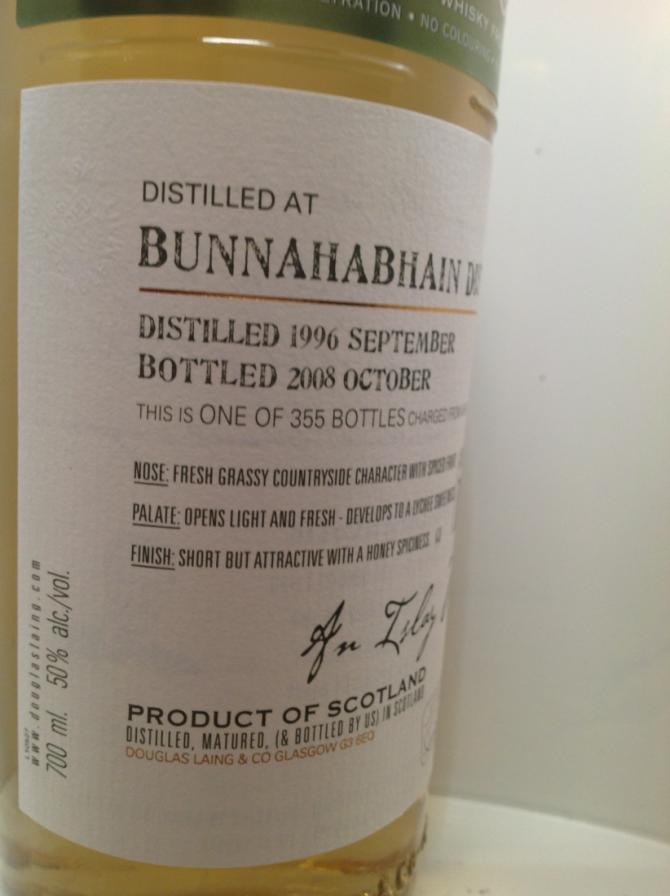 Bunnahabhain 1996 DL