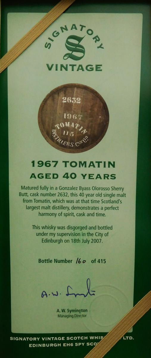Tomatin 1967 SV
