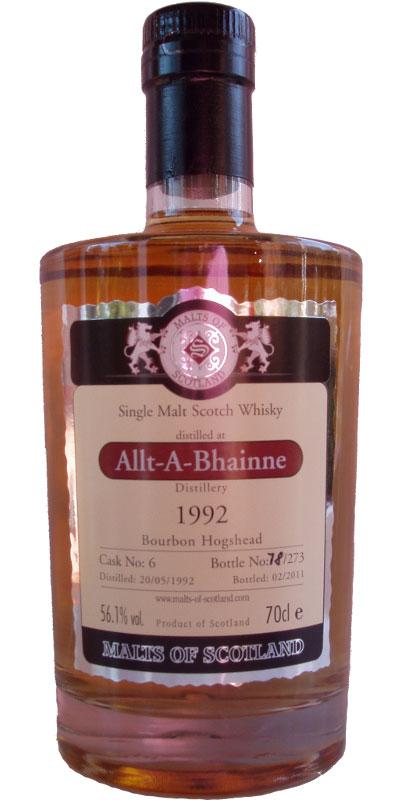 Allt-a-Bhainne 1992 MoS