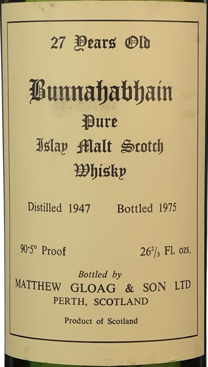 Bunnahabhain 1947 MG&S
