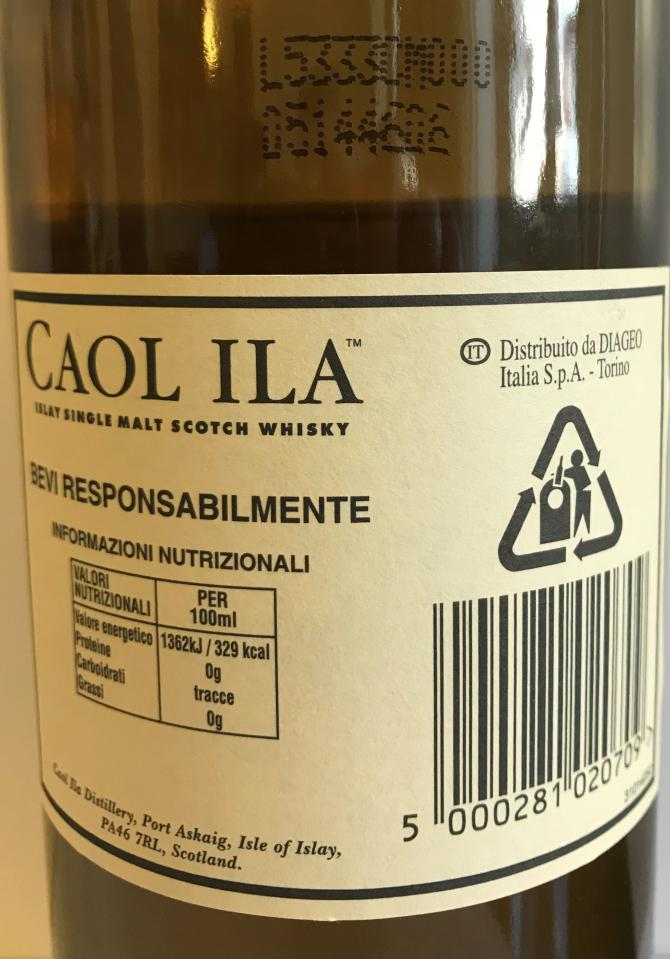 Caol Ila Natural Cask Strength