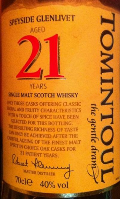 Tomintoul 21-year-old