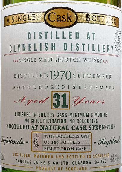 Clynelish 1970 DL