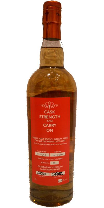 Arran 1998 - Cask Strength and Carry On