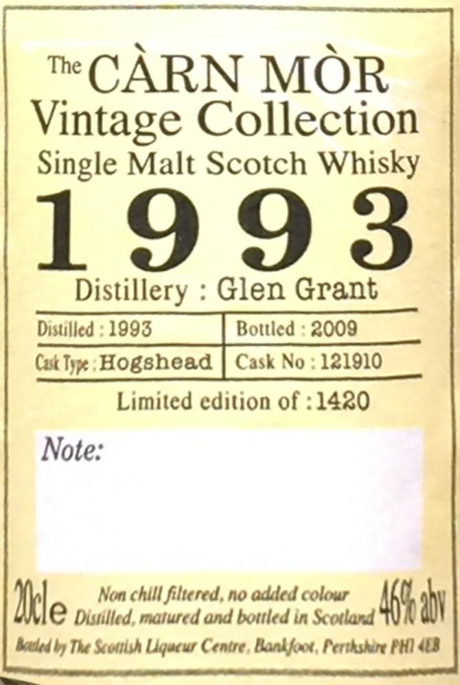 Glen Grant 1993 CM