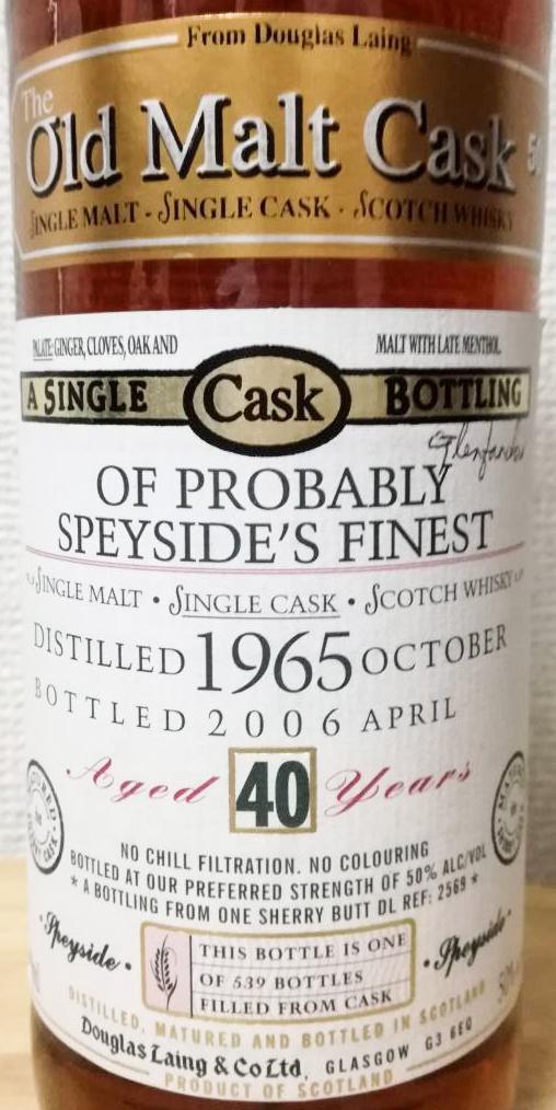 Probably Speyside's Finest 1965 DL