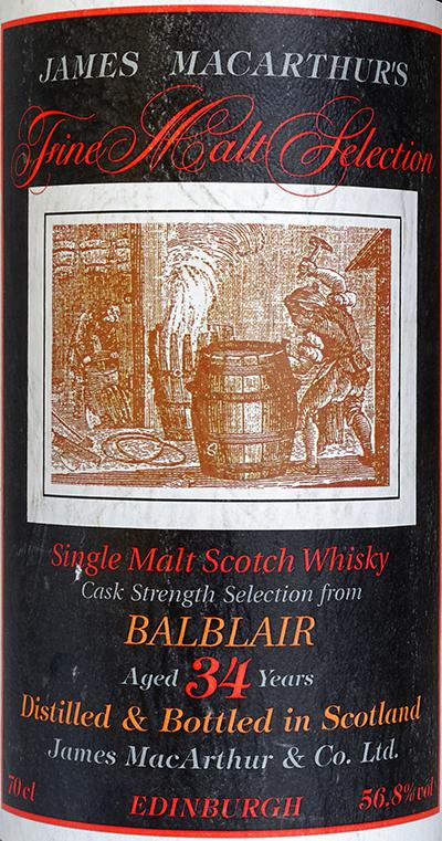 Balblair 34-year-old JM