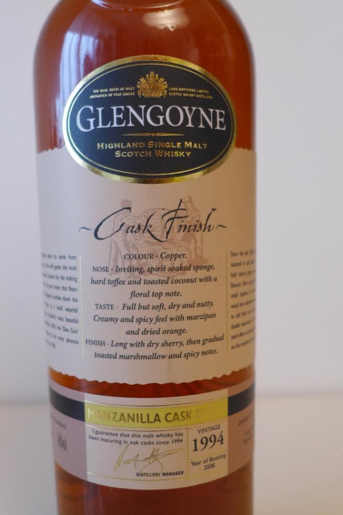 Glengoyne 1994 Manzanilla Finish